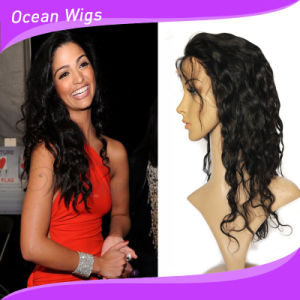 100% 8A Human Indian Virgin Hair Body Wave Front Lace Wig pictures & photos