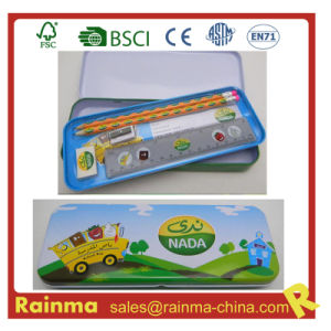 School Stationery Set in Metal Pencil Case pictures & photos