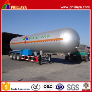 50m3 Liquid LNG LPG Gas Transport Carbon Tank Semi Trailer pictures & photos