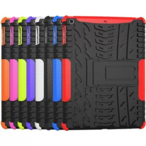 Silicone Plastic TPU Hybird Armor Combo Tablet Case for iPad 5 Air