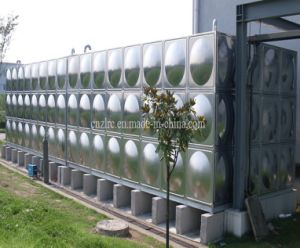 Stainless Steel Water Treatment Pressed Panel Fire Fighting Water Tank pictures & photos