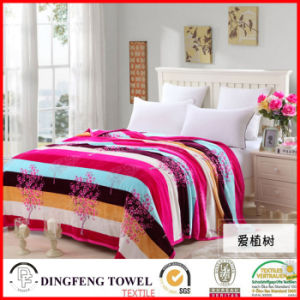 2016 New Season Coral Fleece Blanket with Printed Df-8837 pictures & photos