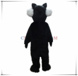 Cool Black Wolf Mascot Costume From Authentic Factory pictures & photos