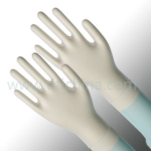 FDA Certificate Vinyl Powdered Gloves with Clear Color pictures & photos