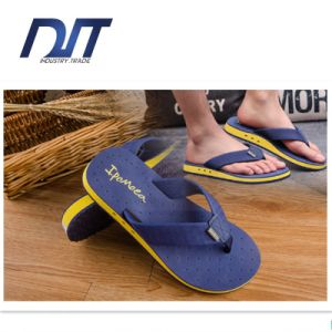 Summer Men′s Fashion Simple Flip Flops Anti-Skid Breathable Comfort pictures & photos