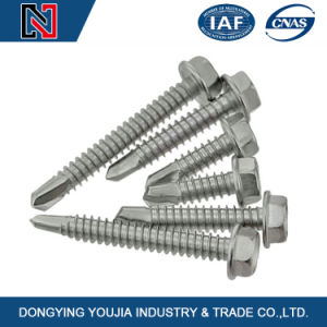 Carbon Steel Hexagon Head Self-Drilling Tapping Screw with Flange pictures & photos