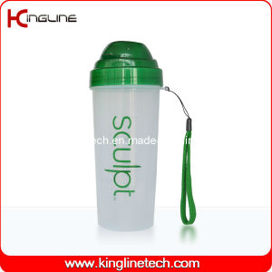 550ml Plastic Protein Shaker Bottle with Filter and Lanyard (KL-7037) pictures & photos