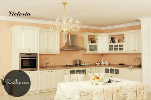 European Style PVC MDF Carcase Cabinet Kitchen (zc-017) pictures & photos