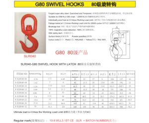 Grade80 Swivel Hook with Latch pictures & photos