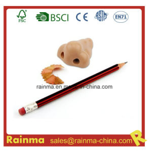 Plastic Pencil Sharpener with Nose Shape pictures & photos
