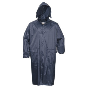 Adult′s Adults Waterproof Polyester Polyester/PVC Raincoat Outdoor Worwear pictures & photos