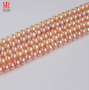 8-9mm Pink Fresh Water Pearl Strand pictures & photos