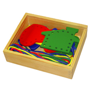 Wooden Lacing Toy with Different Shapes (80164-2) pictures & photos