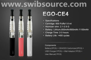 Good Quality Joyetech EGO CE4 E Cigarette with Competitive Price