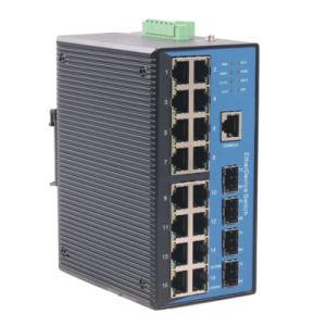 20 Port Gigabit Web-Managed Industrial Ethernet Switch (MIGE7220-4GP01)