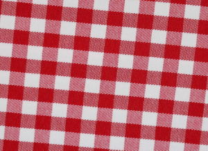 Red/White Checks Twill CVC Yarn Dyed Fabric Shirting pictures & photos