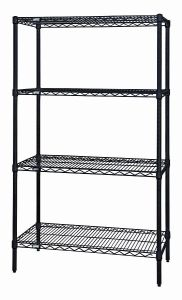 NSF Black Coating Metal Wire Shelving Rack Manufacturer pictures & photos