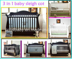 Deluxe 3 in 1 Sleigh Baby Cot (TC8038)