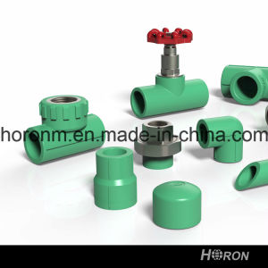PPR Water Pipe Fitting (90 DEG MALE THREAD ELBOW WITH PLATE) pictures & photos