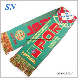 Factory Stock Jacqard Knitted Soccer Fans Scarves pictures & photos