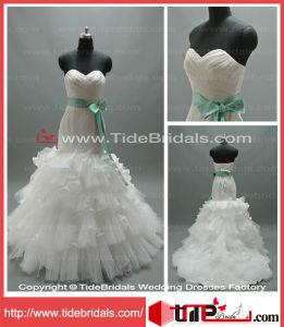 High Quality Mermaid Sweetheart Strapless Organza Bridal Gown Wedding Dress (LT5749)