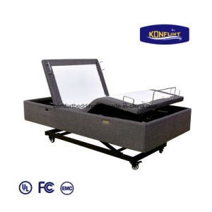 Hospital Homecare Massage Bed LED Lighting Hi-Low Bed Remote Contorl Adjustable Furniture Bed pictures & photos