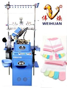 Weihuan (WH) Computerized Looping Five-Toes Socks Knitting Machine (WEIHUAN-6FR) pictures & photos
