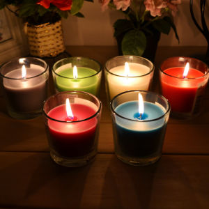 Hot Selling Paraffin Wax Glass Jar Candle pictures & photos