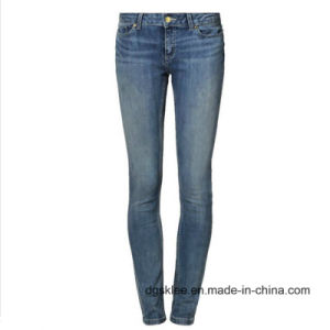 Wholesale Women′s 99% Cotton Skinny Jeans (D363)
