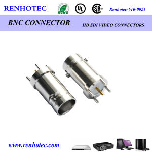 Straight Panel Receptacle BNC Female Connector pictures & photos
