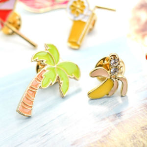 Cocktail Ice Cream Crystal Banana Tree Sunglasses Beach Umbrella Brooches pictures & photos