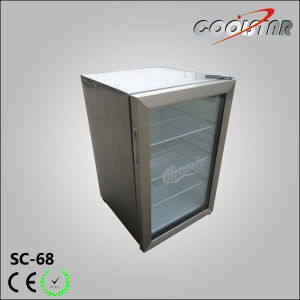 Transparent Glass Door Silver Mini Bar Fridge (SC68) pictures & photos