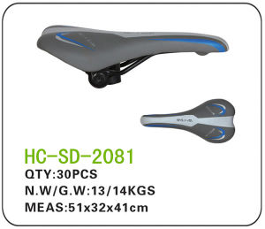 Dark Grey, Well Selling, Leather MTB Saddle (SD-2081) pictures & photos