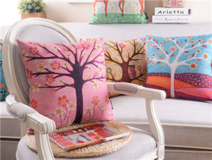 Pastoral Village Sofa Cushion Cotton Pillow Waist Bed Cushion Pillow (MX-18) pictures & photos