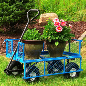 Heavy-Duty Steel Cart Garden Yard Wagon 400 Lb Carts pictures & photos
