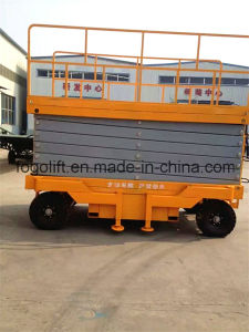Wholesale Hydraulic Trailing Mobile Scissor Lift / Manual Scissor Work Platform pictures & photos