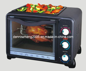 Electric Toaster Oven/Broiler with BBQ and Rotisserie, 18L Capacity