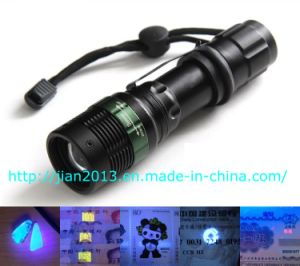 3W 365nm Rechargeable Scorpion Hunting UV Flashlight pictures & photos