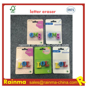 TPR Letter Eraser for Stationery Kids pictures & photos
