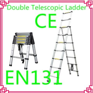 Double Aluminum Telescopic Ladder /Household Ladder pictures & photos