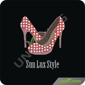 High-Heel Shoes Hotfix Rhinestone Design Diamond