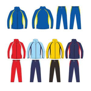 Custom Sublimation Tracksuit Warm up Suit Jacket and Pants with Low MOQ pictures & photos