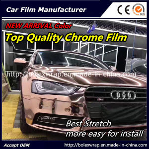 New Arrival Color~~ Top Quality Glossy Chrome Smart Car Vinyl Wrap Vinyl Film pictures & photos