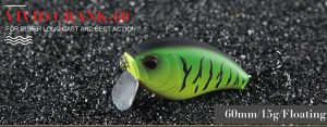 Plastic Fishing Lure (Vivid Crank 60) pictures & photos