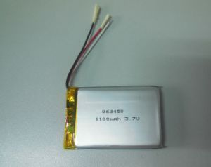 Rechargeable 063450 1100mAh Li-ion Polymer Battery pictures & photos