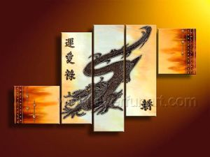 Modern Abstract Dragon Animal Oil Painting pictures & photos