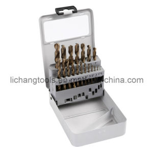 Power Tool 19PCS HSS Drill Bits Set with Aluminum Box for Cutting Tool pictures & photos