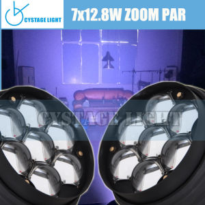 New Arrival Top Design 7X12.8W Zoom PAR Stage Lighting