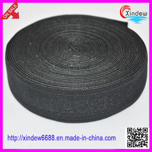 High Quality Black Woven Knitted Elastic Tape (XDWK-001) pictures & photos