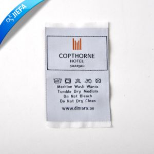 Supply Garment Woven Label Neck Tag Without MOQ pictures & photos